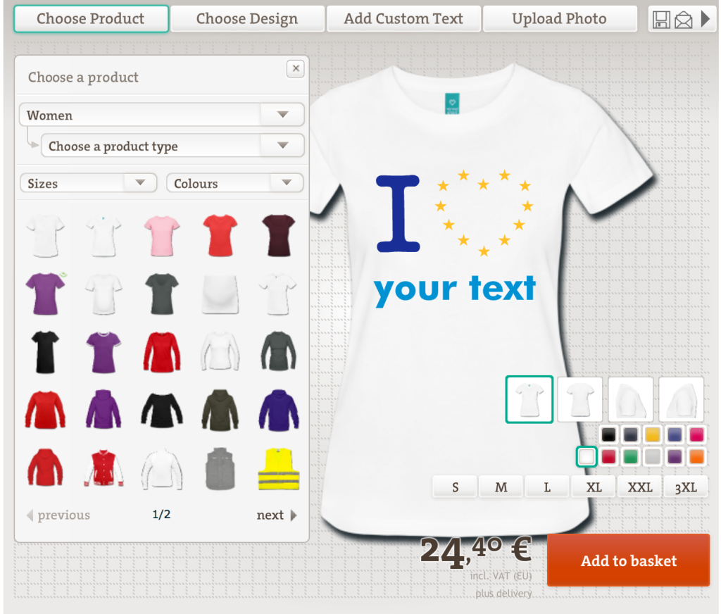 Europe Shirts Design yourself!